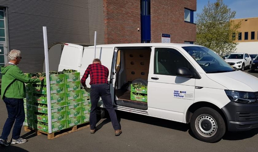 Verse groente en fruit wordt geschonken aan de Voedselbank. (Foto: pr)
