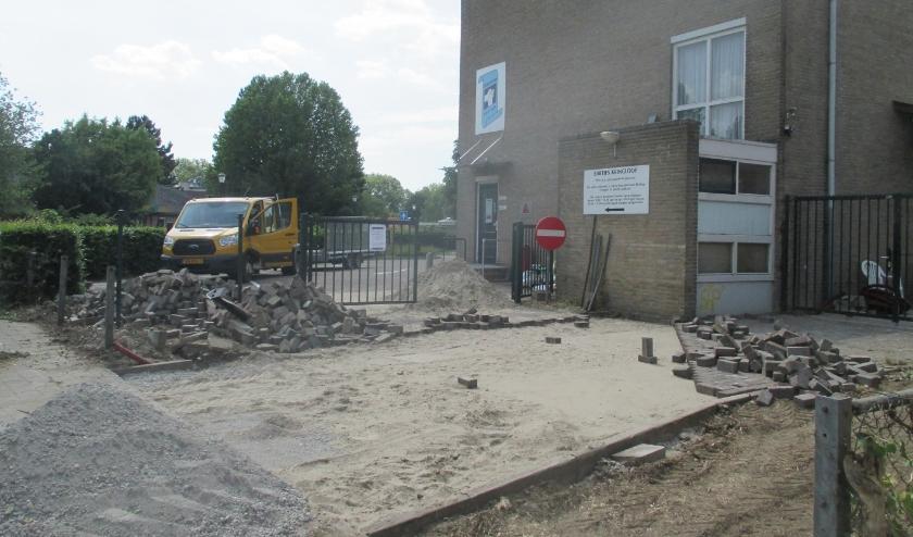 Er wordt volop gewerkt aan de verbetering van de kringloopwinkel Bartje.