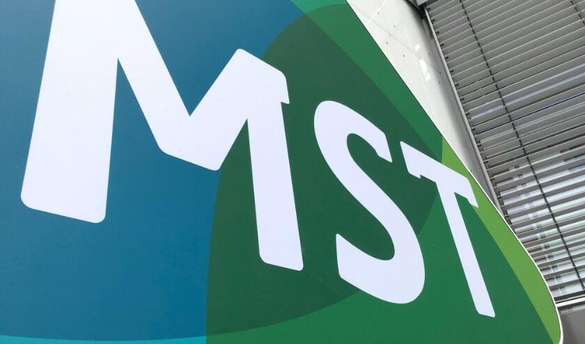 <p>Logo MST gevel ziekenhuis</p>