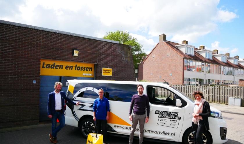 vlnr Stef Bijlsma, Milah de Ridder, Ruben Elzas en Nanette Mostert.