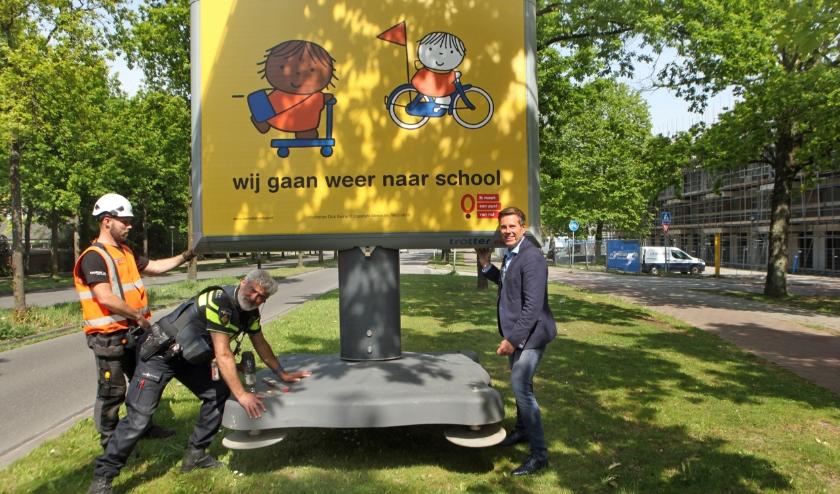 De campagne 'Wij gaan weer naar school' vraagt extra aandacht voor de verkeersveiligheid rondom scholen. Foto: Peter van Zetten