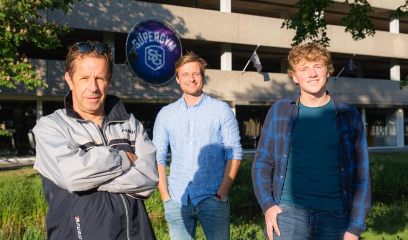 Op foto van links naar rechts: Frans Limbertie, Danny van Dam en Bas Hageman.