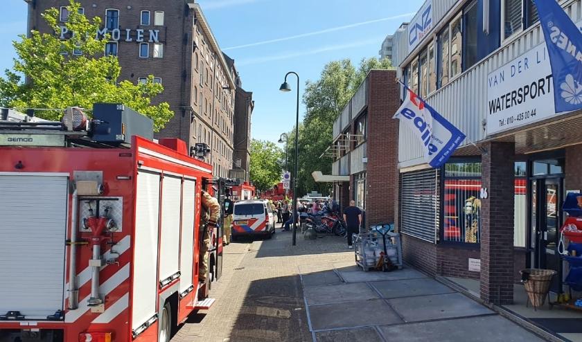 Grote brand in Vlaardingen.