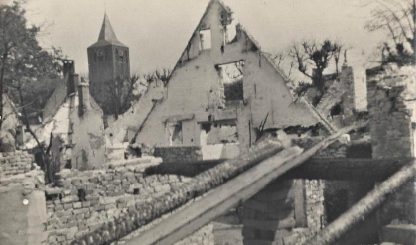 De verwoesting van Lienden in WOII.