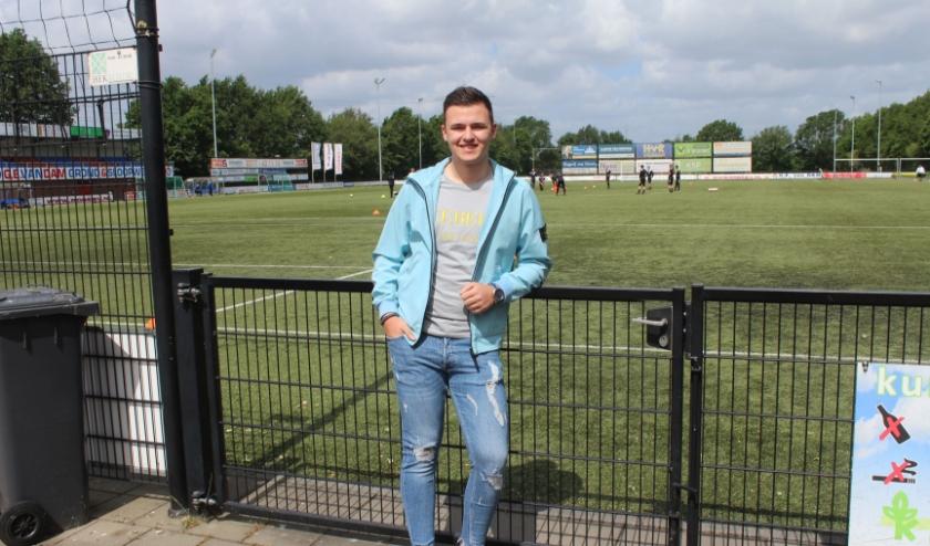 Wiebe Hendriks wil eerste doelman worden in de hoofdmacht van VVA Achterberg. (Foto: Henk Jansen)