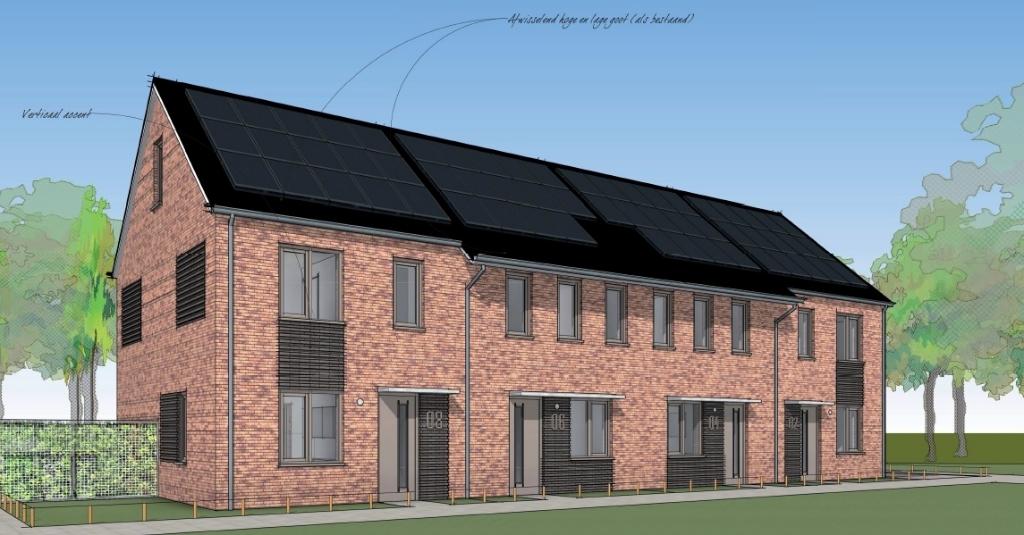 Vier nieuwe woningen aan de Hasmanlanden Foto: Beltman Architecten © DPG Media