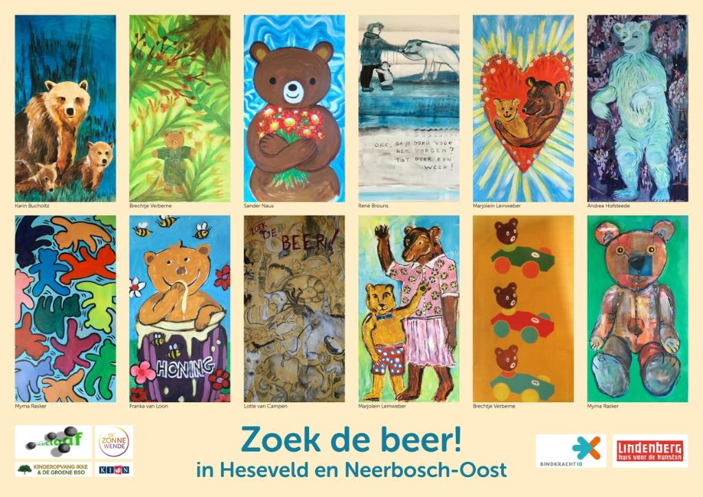 De poster met alle kunstwerken op een rij. Foto:  © DPG Media