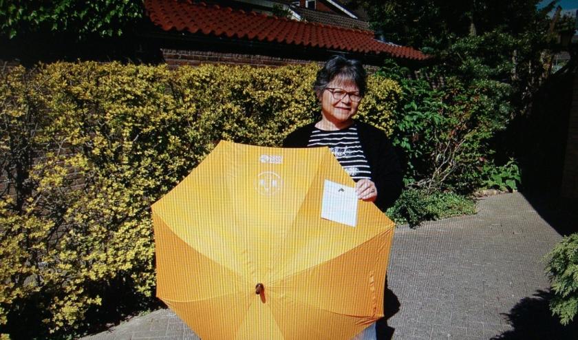 Parapluus voor de wandelgroep van Eveline Verduijn