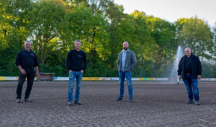 Van links af Henk Riphagen, Erik Pronk, Albert Koopman en Frans Schimmel.