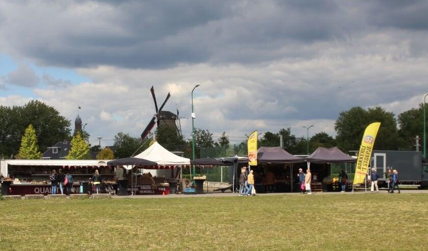 <p>De IJsselsteinse weekmarkt op het Podiumterrein in mei van dit jaar.&nbsp;</p>