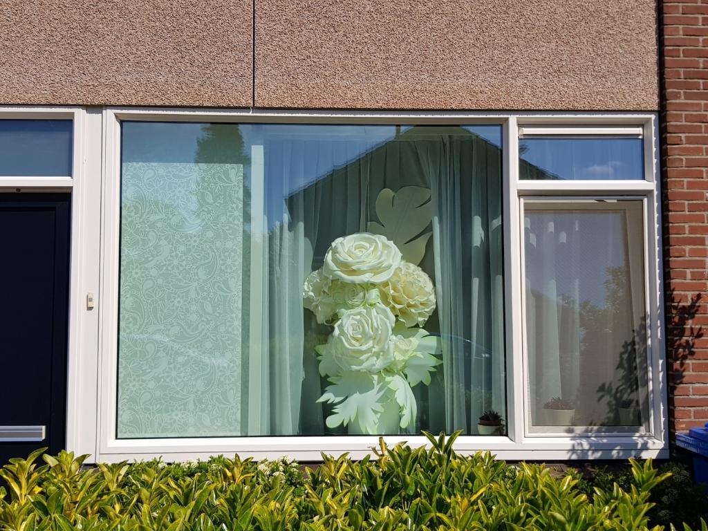 Kunstwerk voor het raam in Prins Alexander. Foto:  © DPG Media