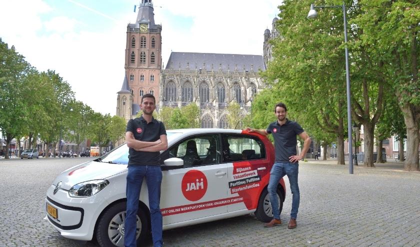 Ruud Schippers en Carlo Verstegen van JAMwerkt helpen bedrijven bij het vinden van jong talent uit Den Bosch en omgeving.