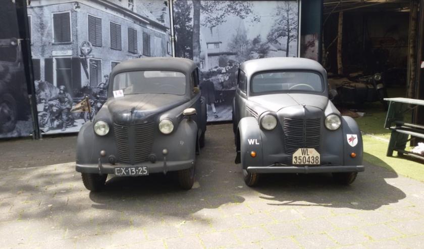 Open Kadett uit 1938 (auto rechts).
