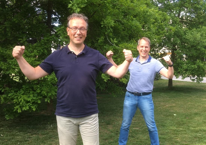 Links Gerjo Schepers en rechts Egon Zweers.