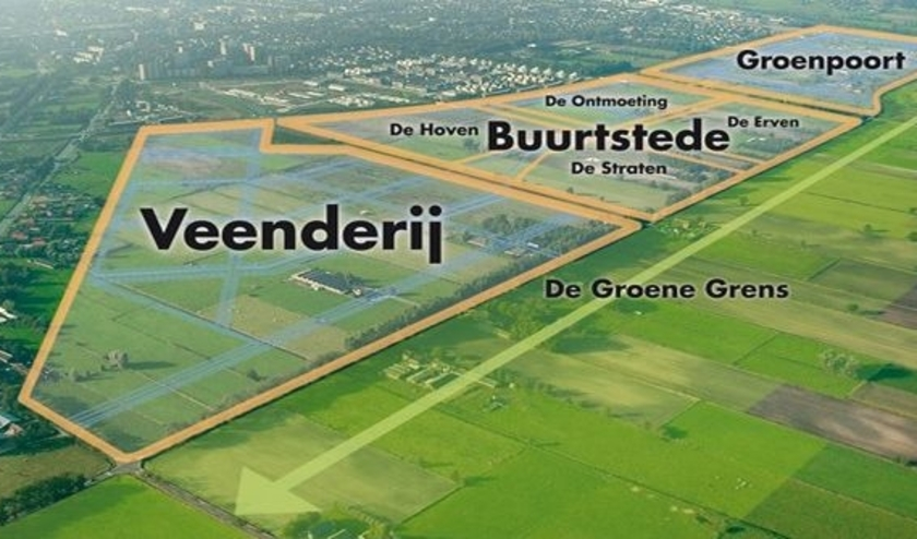 Groenpoort maakt deel uit van Veenendaal-oost. Daar moet de tweede ontsluiting komen op de Rondweg. (Foto: archief)