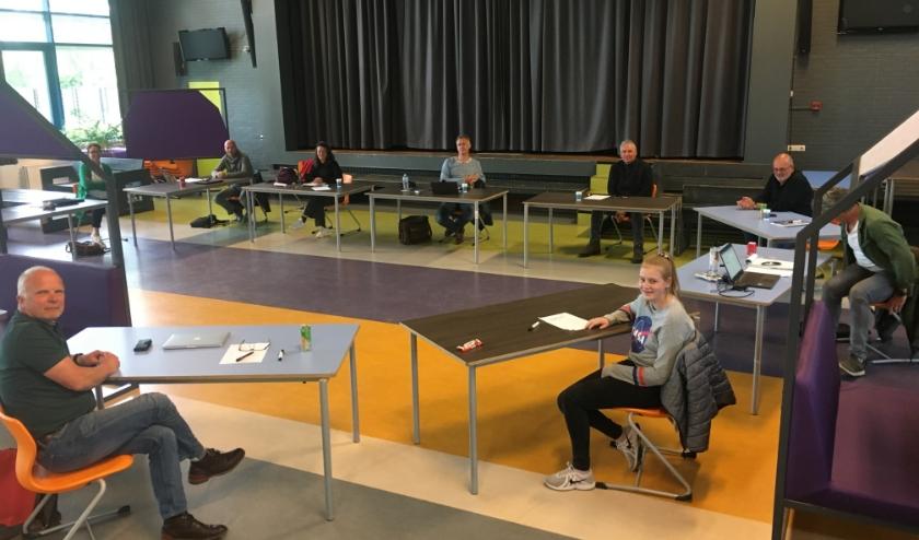 Het Morgen College heeft met alle geledingen nagedacht over de 1,5 meter school, dus ook de leerlingen (voorgrond). Foto: Morgen College