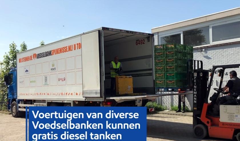 Gratis diesel voor voedselbanken.