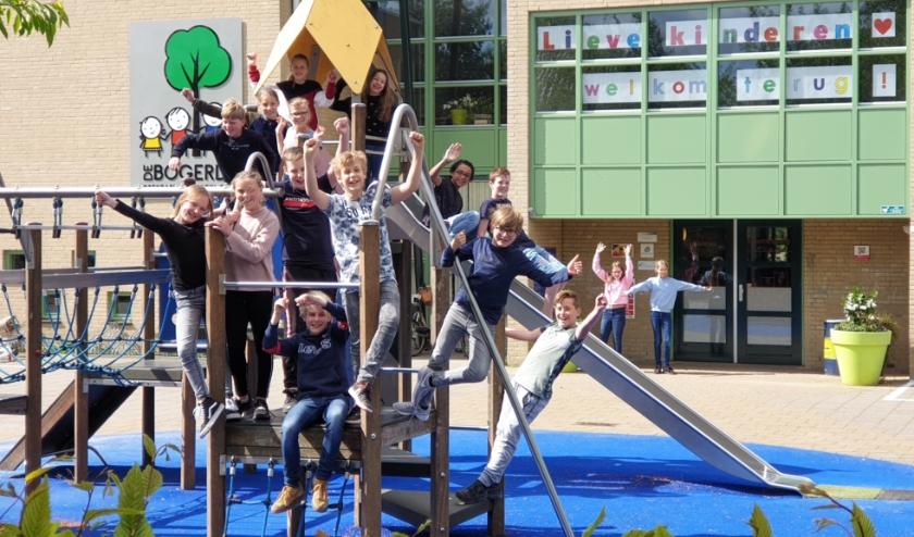 Op obs De Bogerd zijn ze ontzettend blij om de leerlingen weer te ontvangen.