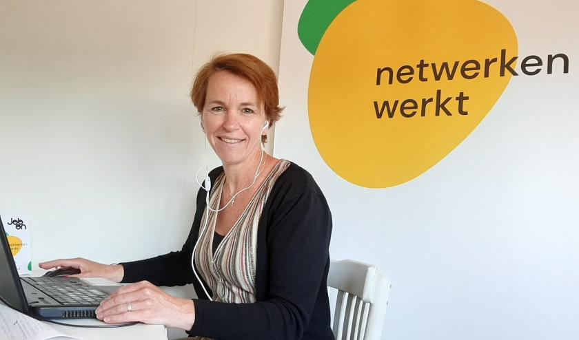 Carolien Polaseke tijdens een webinar van JobOn.