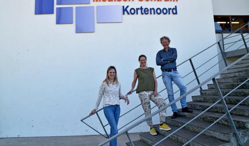 Vlnr. Ninke Vosseberg, Annemarie van Ballegooijen, Michel Meuwissen (foto Jan Boer)