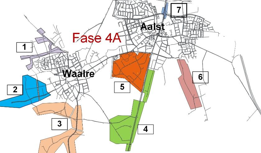 De zeven wijken van fase 4A.