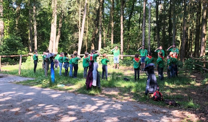 Scouting Hertog Jan van Brabant is weer gestart na 7 weken lockdown. FOTO: Ivo de Jong.