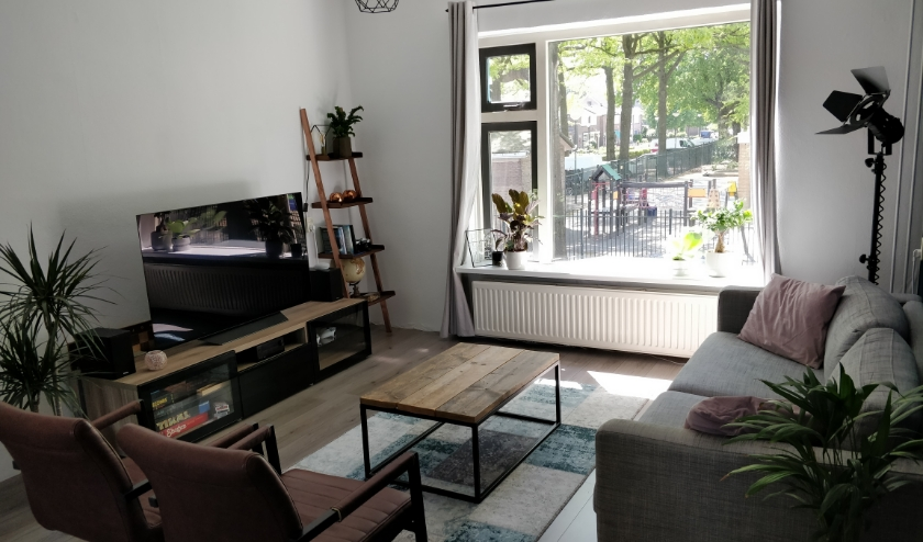 voorbeeld van een woonkamer aan de Dennenlaan.