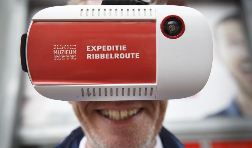 Virtualrealitybril Expeditie ribbelroute.