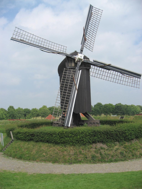 molen in Bourtange, vergelijkbaar met in Bathmen gevonden molen Foto: Gerard Gervedink Nijhuis © DPG Media