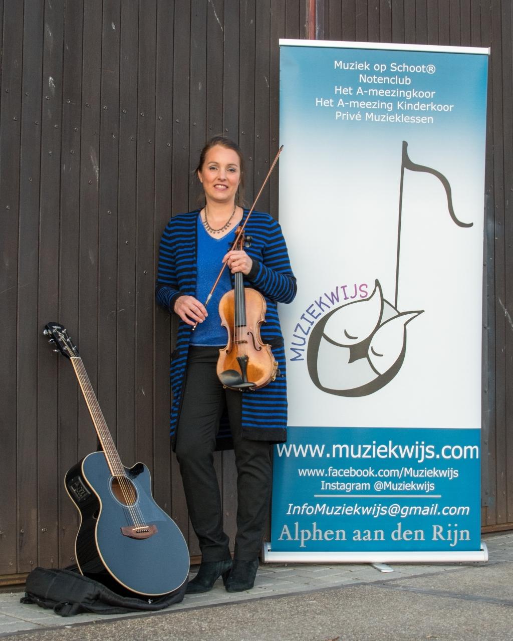 Manon Ruardy, eigenaar van muziekschool Muziekwijs. Foto: Wilco Bos Foto: Wilco Bos © DPG Media