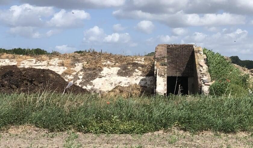 Een van de bunkers verkeert in slechte staat