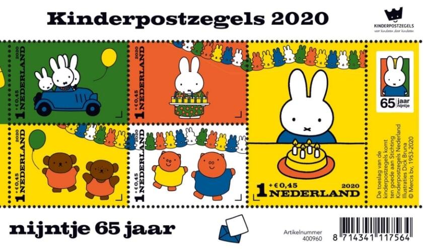 Nijnje is dit jaar 65 geworden en siert de Kinderpostzegels.