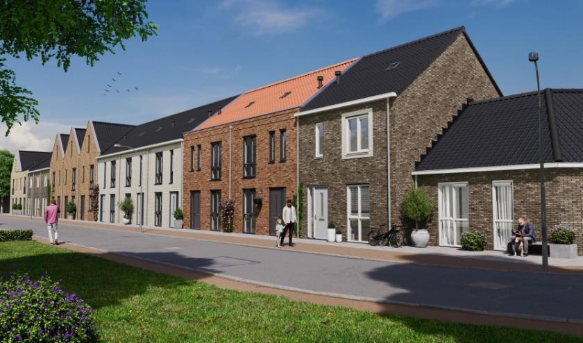 Exterieurimpressie project Thuishaven, bouwnummers 1-14.