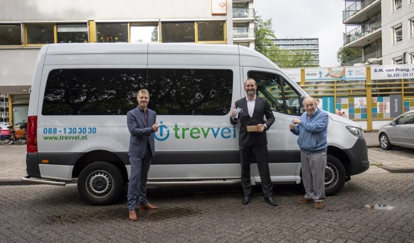 v.l.n.r. Gijsbert van Herk, Arno van Haasterecht, de heer Tetteroo.