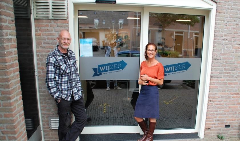 Twee drijvende krachten achter Psysalon Oirschot: Anke Biermans van GGZ-Eindhoven/De Boei en Jan van der Avort van Werkhuys Producties.