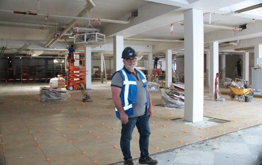 Fred Rombouts in de gestripte Jumbo-supermarkt op het Eilandplein: 'Het kan snel gaan omdat we werken met vaste partijen.'