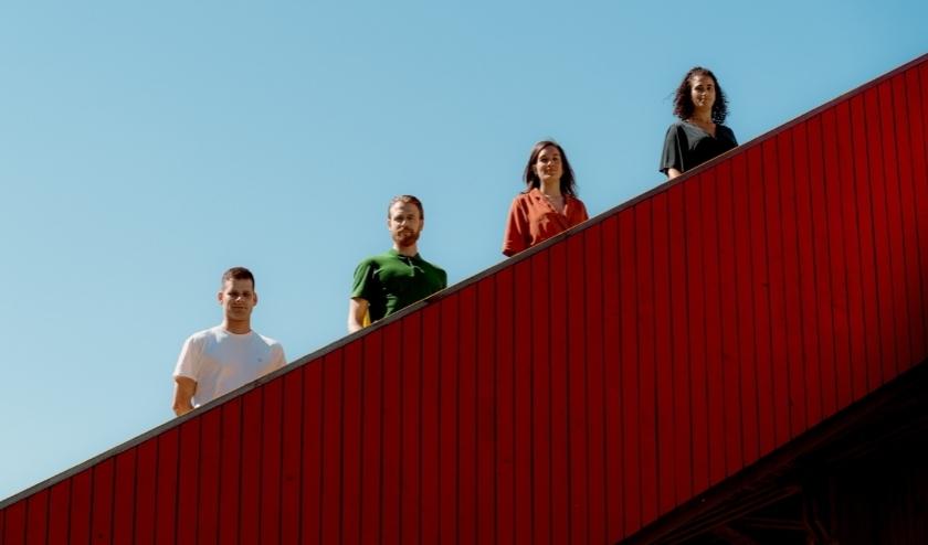 Van links naar rechts Thomas, Joris, Marijn en Matilde.