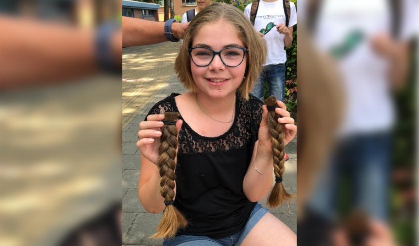 Anna doneerde voor de 3e keer haar haar.