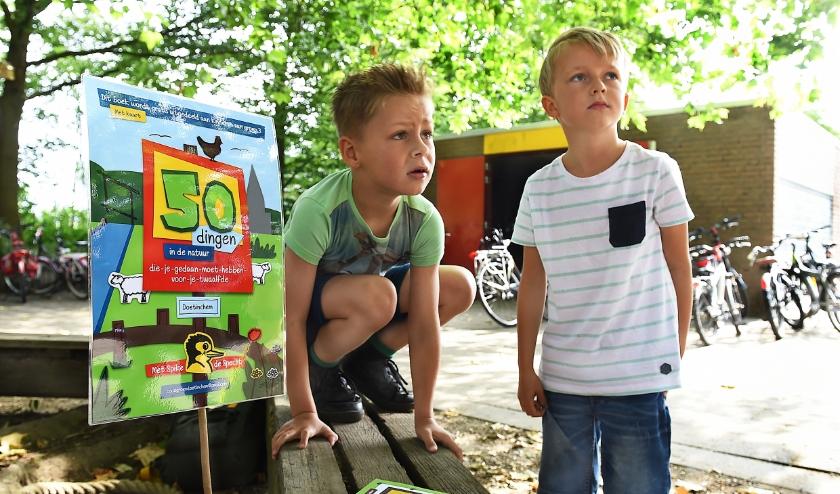 Billy en Willem van groep 3 Wis en Wierig Gaanderen.