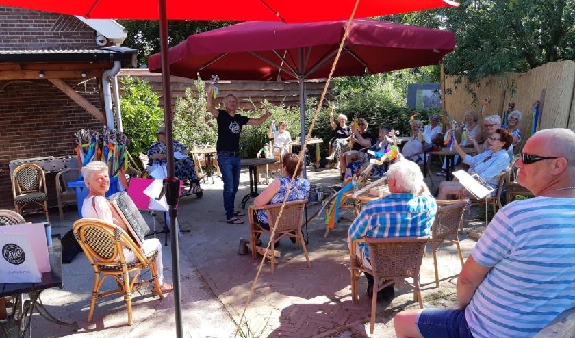 Op 19 juni waren de deelnemers van het orkest weer bij elkaar. (Foto: Privé)