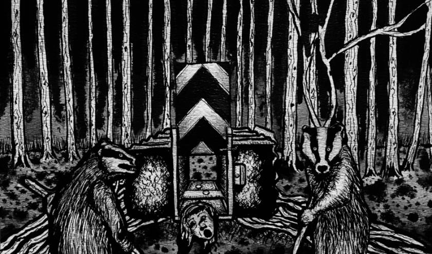 Ivo Kamphuis, The Animal Crusade, 2020, Oostindische inkt op papier