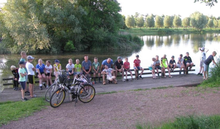 Alle deelnemers aan tweede jeugdviswedstrijd hebben vissen gevangen. (Foto: HSV 't Zumpke)