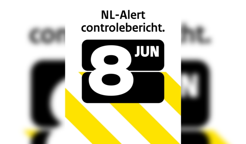 NL-Alert controlebericht 8 juni
