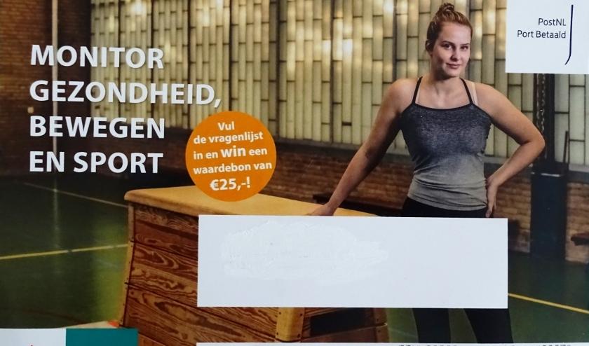 Deze 'ansichtkaart' viel onlangs bij 6000, via een steekproef geselecteerde, Vlaardingers op de mat. (foto: PR)
