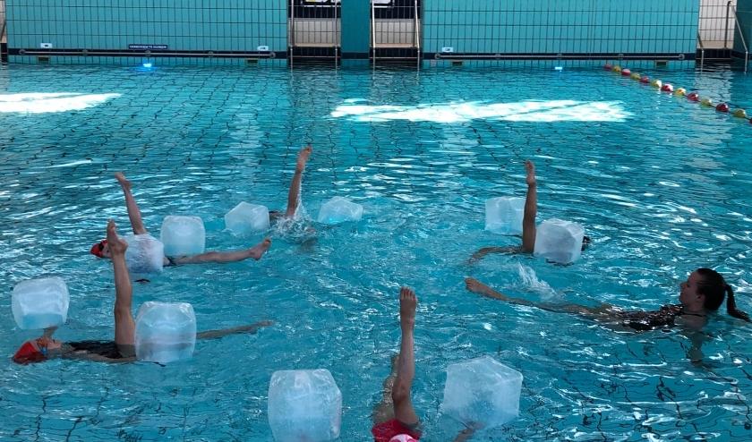 Synchroonzwemmen is een mix van zwemmen, turnen en dansen. FOTO: PSV.