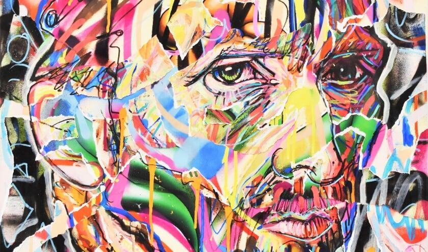 Een gedeelte uit 1 van de 130 portretten van urban artist Nowart. (Foto: Art Dumay)