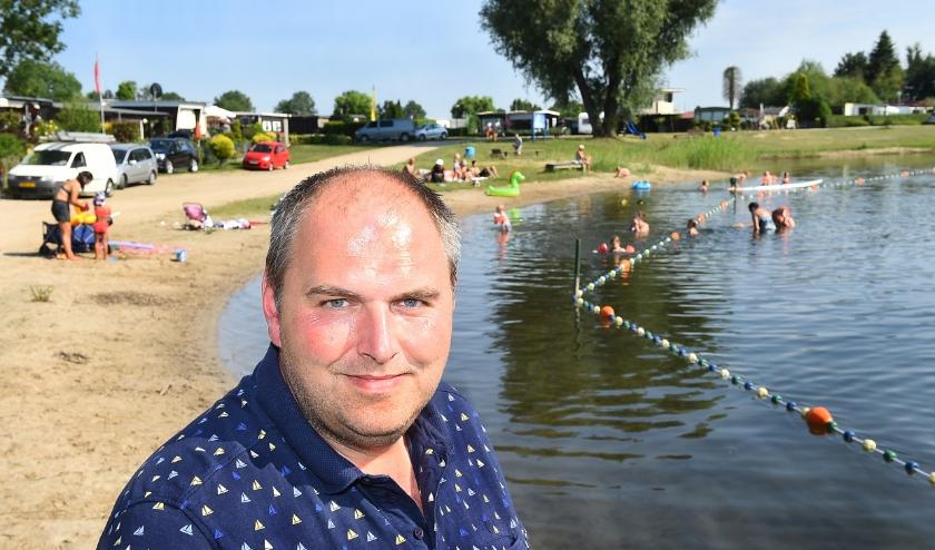 Michel Sloot van camping Slootermeer in Etten. (foto: Roel Kleinpenning)