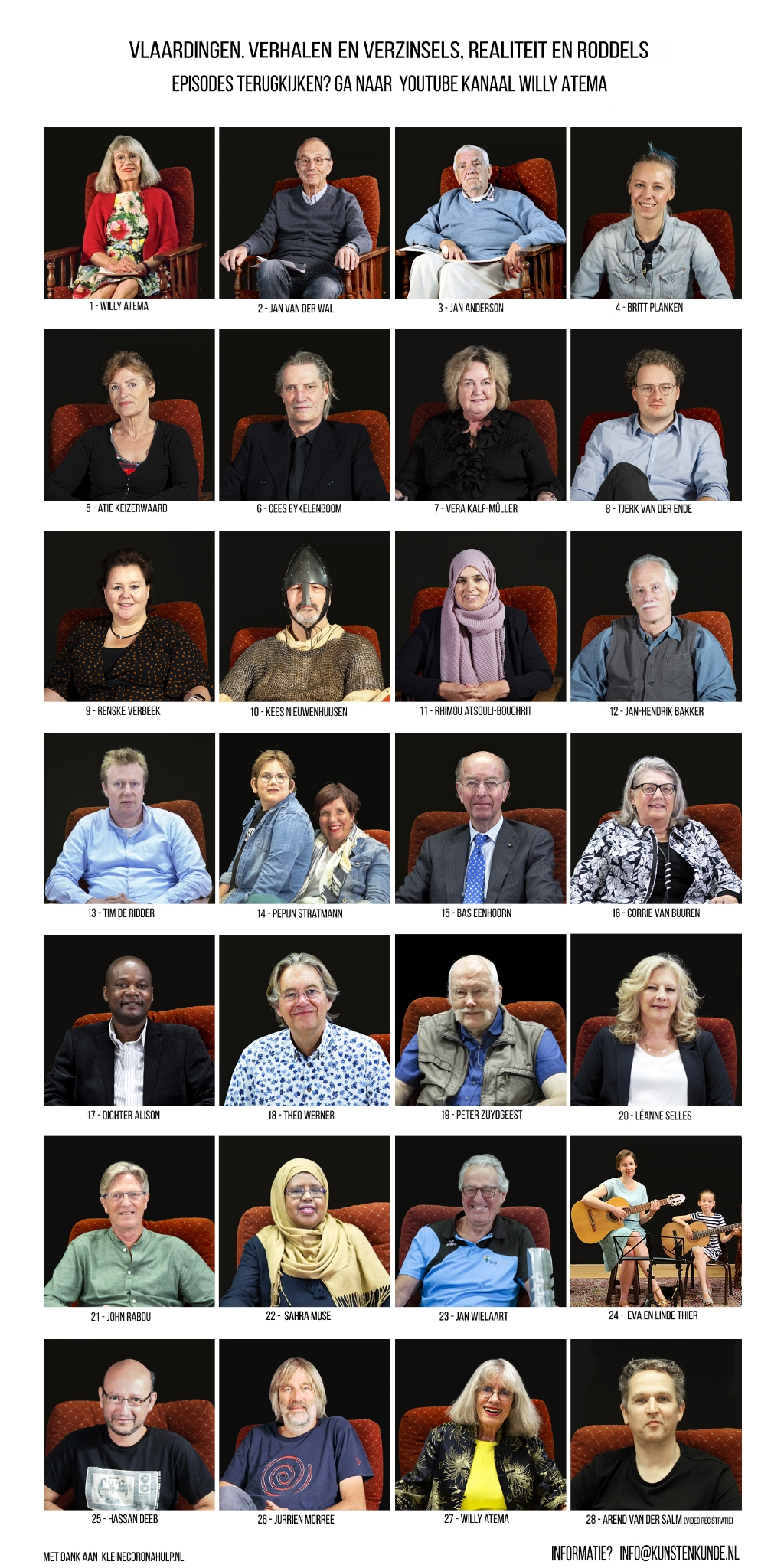 Smoelenboek deelnemers aan cyclus. Foto:  © DPG Media