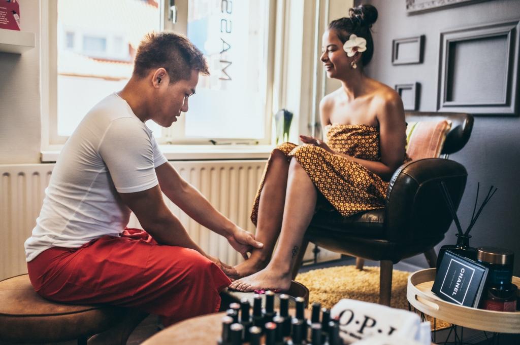 Voetenspa door Jino Jooma Foto: JINO'S Nails & Thai Massage © DPG Media
