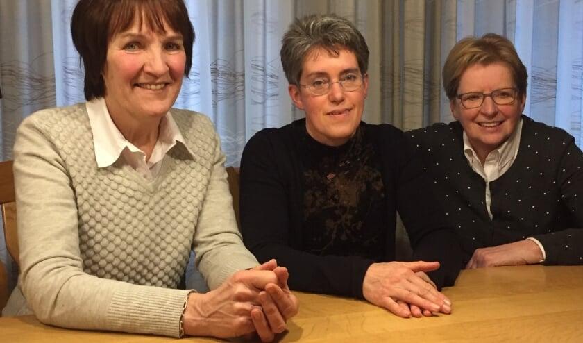Van links naar rechts: Diny Simkens, Petra Bakker-Verhoeven en Thérèse Tielen.
